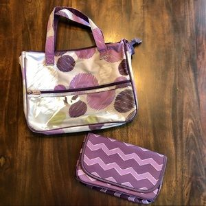 Thirty-One Overnight Accessory Bag and Small Case